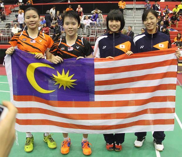 Goh Jin Wei, Lee Ying Ying, Moe Araki, and Natsuki Nidaira (from left). (photo: BWF)