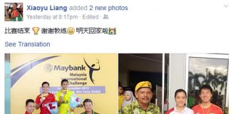 Congratulations to Liang Xiaoyu! (photo: Liang Xiaoyu's Facebook)