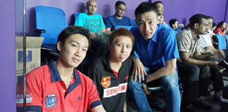Kento Momota (left) sets up Lee Chong Wei (right) clash at Purple League. (photo: Purple League)