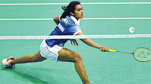 P. V Sindhu is two wins away from her first major trophy this season.