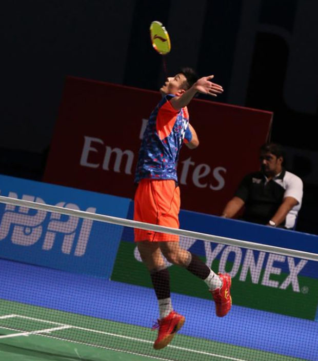 Chen Long is flying high in Dubai. (photo: BWF)
