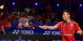 Lee Chong Wei gets his first win in India's Premier Badminton League on Saturday. (photo: PTI)