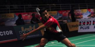 Iskandar Zulkarnain Zainuddin in unstoppable form as he beats Angus Ng Ka Long of Hong Kong in straight sets. (photo: Bernama)
