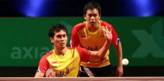 Hendra Setiawan/Mohammad Ahsan (front) still Indonesia's main hope of winning gold at the 2016 Rio Olympics.