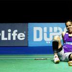 Saina Nehwal suffers foot injury at the 2015 Dubai World Superseries finals.