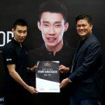 Lee Chong Wei is an official brand ambassador for XOX mobile. (photo: Bernama)
