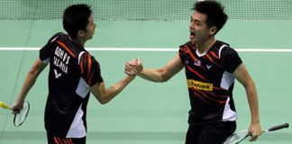 Goh V Shem/Tan Wee Kiong face tough task against Mathias Boe/Carsten Mogensen in Syed Modi semis.