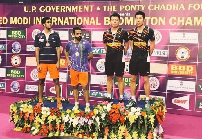 Congratulations to Goh V Shem/Tan Wee Kiong, and well done to Pranaav Chopra and Akshay Dewalkar for putting up a good fight. (photo: AFP)
