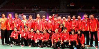 Tommy Sugiarto's (behind, third right) inclusion is a big boost to the 2016 Indonesian men's team in Hyderabad.