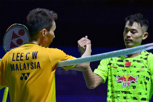 Lee Chong Wei (left) and Lin Dan could potentially renew their longtime rivalry at All England final. (photo: GettyImages)