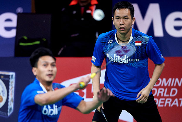 Hendra Setiawan/Mohammad Ahsan are bidding for their second All England title in Birmingham. (photo: GettyImages)