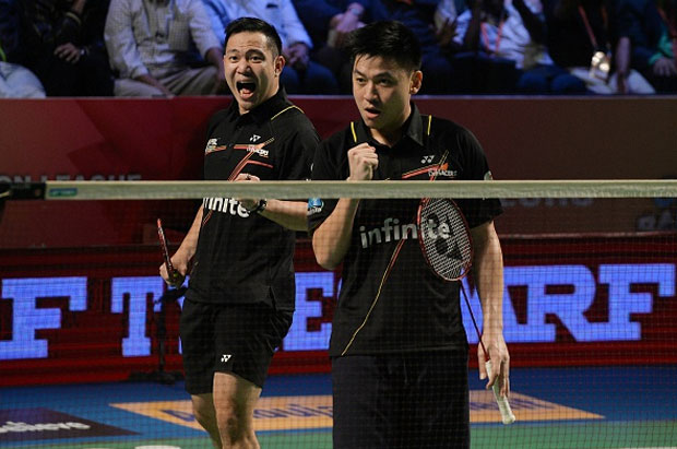 Koo Kien Keat/Tan Boon Heong will play a tough match against Lee Sheng Mu/Tsai Chia Hsin in the Swiss Open semis. (photo: AFP)