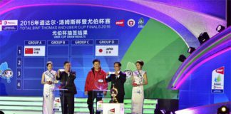 Drawing ceremony for the 2016 Uber Cup finals in Kunshan, China. (photo: BWF)