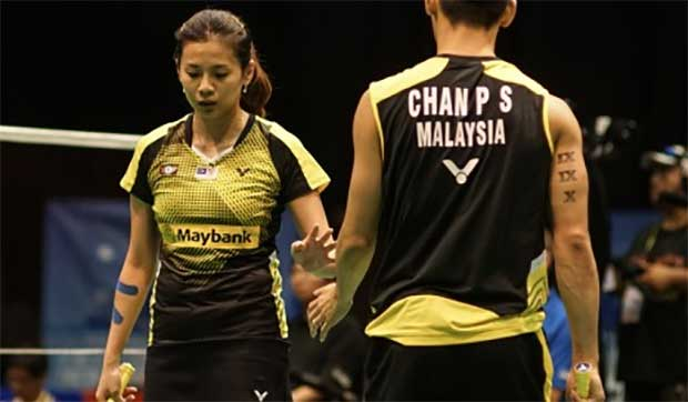 Chan Peng Soon/Goh Liu Ying lost to Zheng Siwei/Chen Qingchen at the 2016 Thailand Masters final, therefore, they should not take Zheng Siwei/Li Yinhui lightly in the New Zealand Open final. (photo: NZ Open)