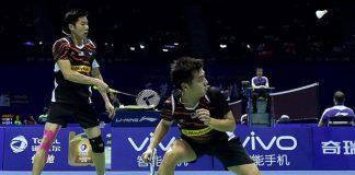 Goh V Shem/Tan Wee Kiong beats Mads Conrad-Petersen/Mads Pieler Kolding at the 2016 India Open in New Delhi. (photo: GettyImages)