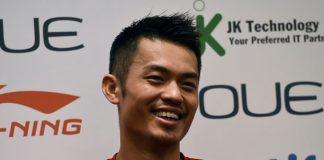 Lin Dan meets the media ahead of the OUE Singapore Open. (photo: GettyImages)
