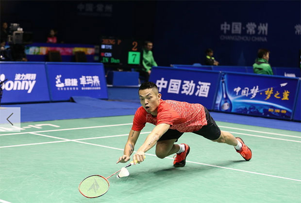Lin Dan could be tuning up for another run at the Rio Olympic. (photo: AFP)