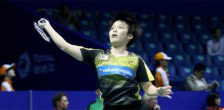 Goh Jin Wei returns a shot from Carolina Marin. (photo: BWF)