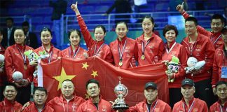 Congratulations to China's women's team for winning the 2016 Uber Cup title. (photo:AFP)