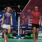 Laura Sarosi (in red) showed why badminton is one of the greatest sports on earth.