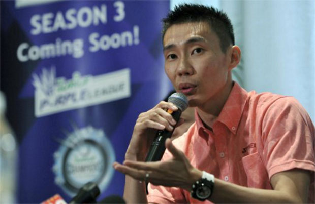 Question & answer session with badminton legend Lee Chong Wei in Petaling Jaya. (photo: Bernama)
