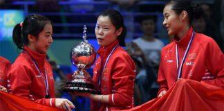 Wang Shixian, Li Xuerui, Wang Yihan (from left) are trying to squeeze into the 2 spots allocated for China in Olympics.