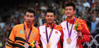 Lee Chong Wei, Lin Dan, and Chen Long (from left) are top 3 contenders for men's singles gold medal at the 2016 Olympic.