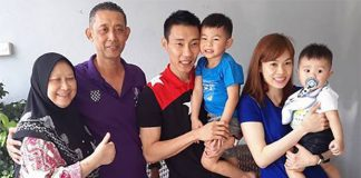 Lee Chong Wei and Misbun Sidek's family. (photo: Misbun Sidek's FB)