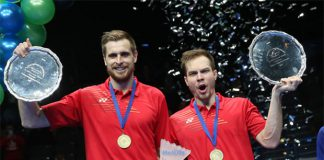 Vladimir Ivanov and Ivan Sozonov became the first ever Russian men's doubles pair to win the All England title. (photo: BWF)