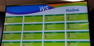 Women's singles draw for the 2016 Rio Olympics. (photo: BWF)