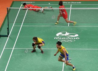 Best of luck to Chan Peng Soon/Goh Liu Ying in the Olympic final. (photo: AFP)