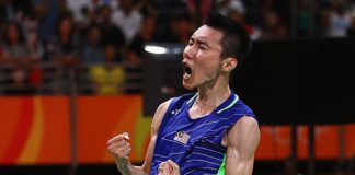 Wish Lee Chong Wei good luck in the Olympic men's singles final. (photo: AFP)