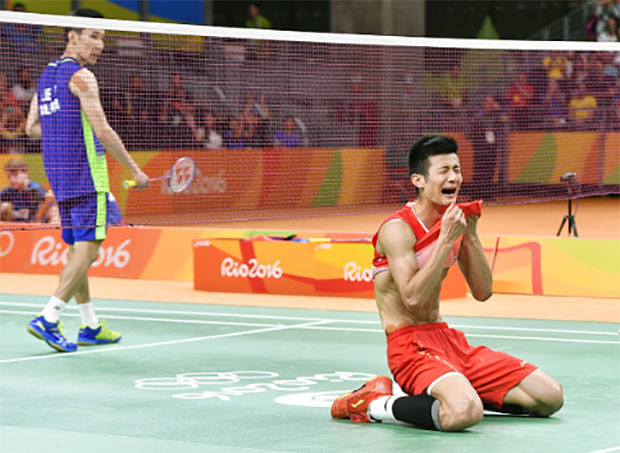 Chen Long beats Lee Chong Wei to win the gold medal at Rio Olympics. (photo: AFP)