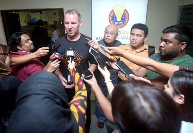 Morten Frost answers reporters' questions. (photo: Bernama)