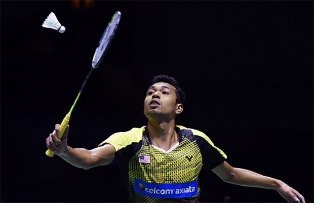 Iskandar Zulkarnain Zainuddin is the No. 2 men's singles player in Malaysia. (photo: AFP)