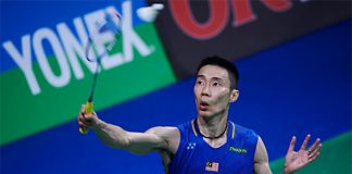 Lee Chong Wei survives a scare against H. S. Prannoy in the 2016 Denmark Open 2nd round. (photo: Lars Ronbog)