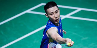 Lee Chong Wei loses to Brice Leverdez in 2016 Denmark Open quarter-finals. (photo: AP)