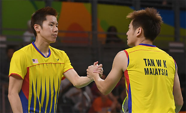 Congratulations to Goh V Shem/Tan Wee Kiong for becoming the World No. 1 men's doubles pair. (photo: AFP)