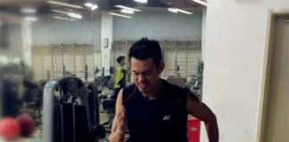 Lin Dan has begun his training on Saturday.