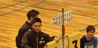 Kento Momota attends the Kumamoto earthquake charity event.