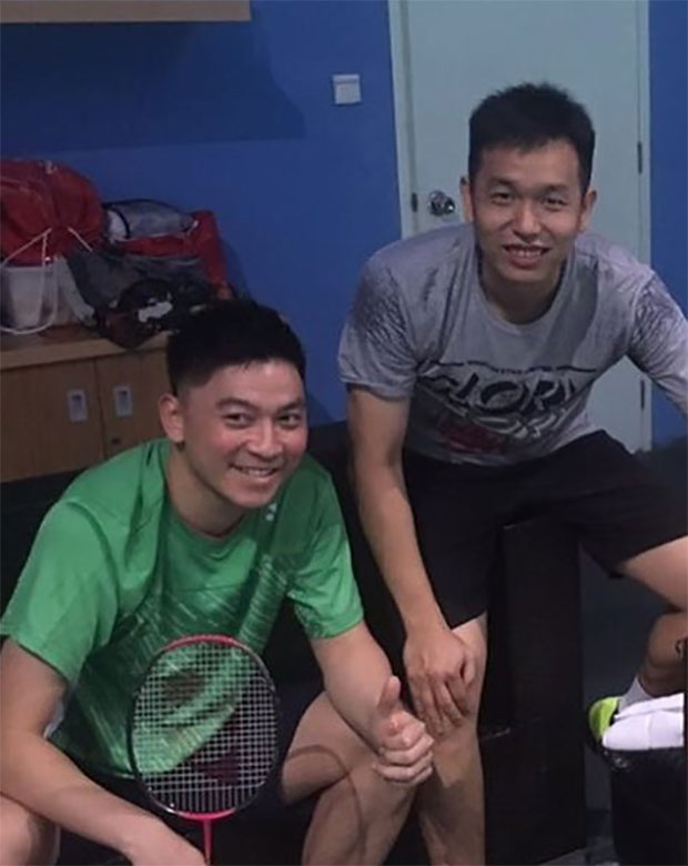 Looking forward to some good men's doubles badminton from Tan Boon Heong/Hendra Setiawan. (photo: Tan Boon Heong's Facebook)