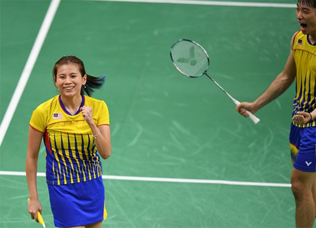 Goh Liu Ying and Chan Peng Soon are the most successful mixed doubles pair in the history of Malaysian badminton. (photo: AP)
