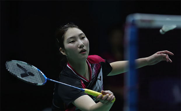 Sung Ji-Hyun plays incredible defense in the semi-final to beat P.V Sindhu. (photo: AFP)