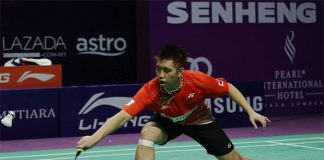 Wish Kenichi Tago could start playing international badminton again. (photo: Purple League)