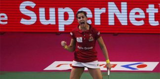 Carolina Marin tops Ashwini Ponnappa in a 3-sets thriller on Saturday.