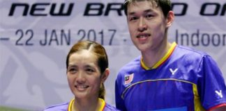 Tan Kian Meng/Lai Pei Jing with their Malaysia Masters trophy. (photo: Bernama)