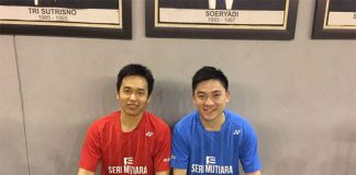 Hendra Setiawan and Tan Boon Heong pose for a photo together after their training in Jakarta. (photo: Tan Boon Heong's Facebook)