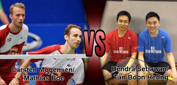 Mathias Boe/Carsten Mogensen beat Hendra Setiawan/Tan Boon Heong at 2017 Syed Modi.