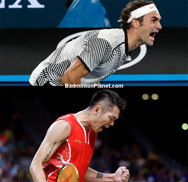 Roger Federer (top) and Lin Dan are the greatest tennis player and badminton player of all time. (photo: AP)