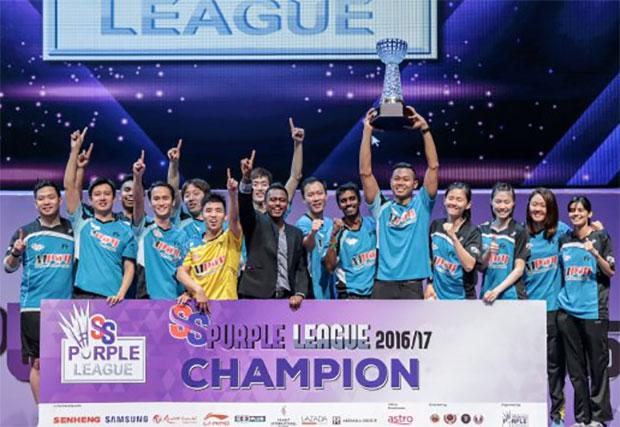 Congratulations to Petaling Jaya BC for winning the 2016/2017 Purple League title. (photo: Asyraf Hamzah)